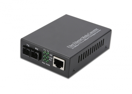 10/100/1000M, Dual Fiber, Fiber Media Converter, Internal PSU