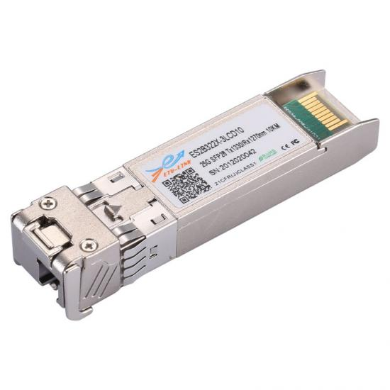 25.78Gbps SFP28 BIDI Transceiver, Single Mode, 10km Reach 1330nm TX / 1270nm RX